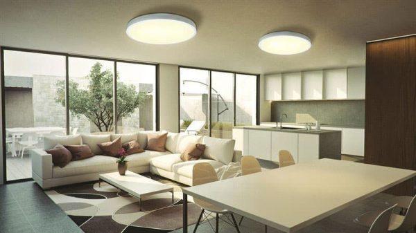 גוף תאורה דגם ELEGANT לבן עם שלט
