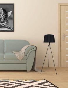 מנורת רצפה מעוצבת דגם מורן קטן בצבע שחור