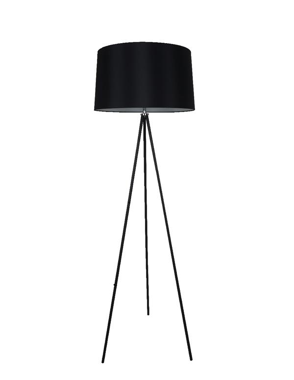 מנורת רצפה מעוצבת דגם מורן גדול בצבע שחור