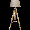מנורת עמידה מעוצבת משי בצבע בז'