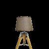 מנורת רצפה מעוצבת משי קטנה עם אהיל בז'